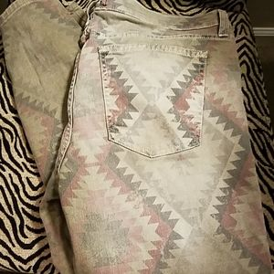 Current/Elliot southwestern print skinnie